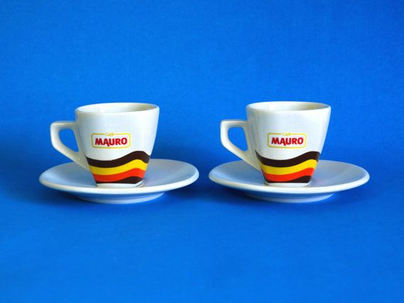 Reserved for Amanda Mauro Espresso Cups and Saucers  by FunkyKoala