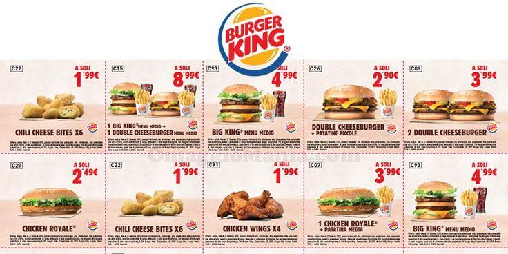 Buoni sconto Burger King 2018 - http://www.omaggiomania.com/buoni-sconto/coupon/buoni-sconto-burger-king-2018/