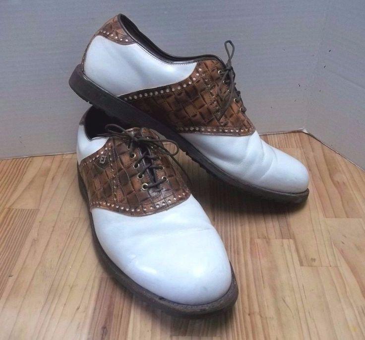 FootJoy Men's Golf Shoe Premier Classics Dry 12 D Saddle Oxford Foot Joy 55603 #FootJoy #GolfShoes