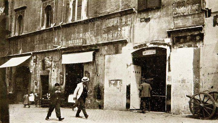 il portico d'Ottavia al ghetto ebraico, 1912