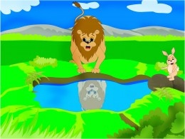 Moral stories for kids : The clever rabbit & the foolish lion