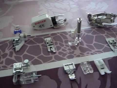 les différents pieds de biche d'une machine à coudre - YouTube