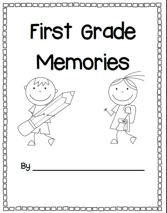 Memory Book Cover Printable ~ Farewell first grade writing reflections memory book