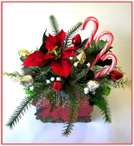 """RED POINSETTIA"" Candy Bouquet"