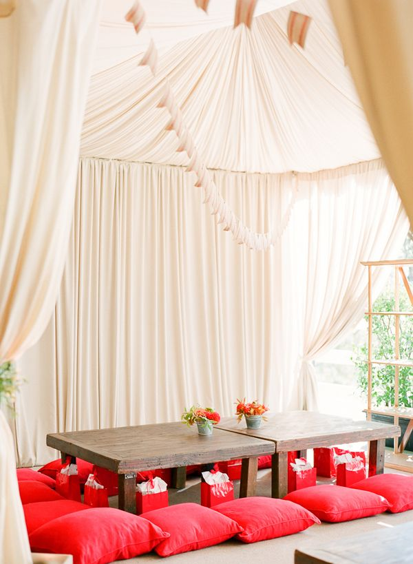 Read and white Party from Alison Events via Snippet & Ink - kids' tent