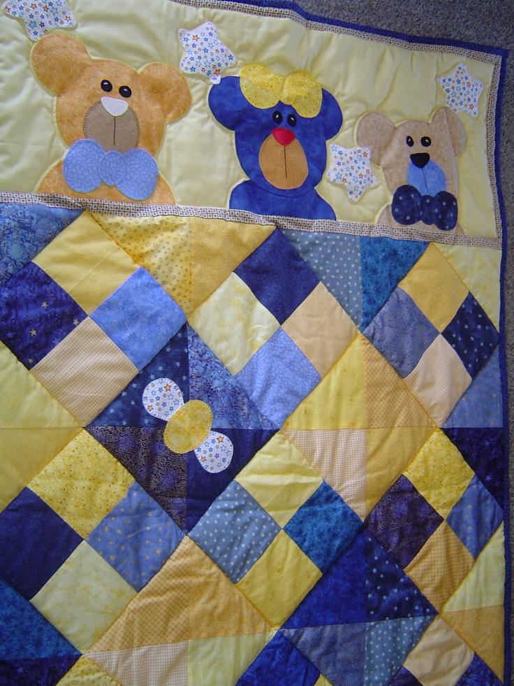 Teddy bear quilt.