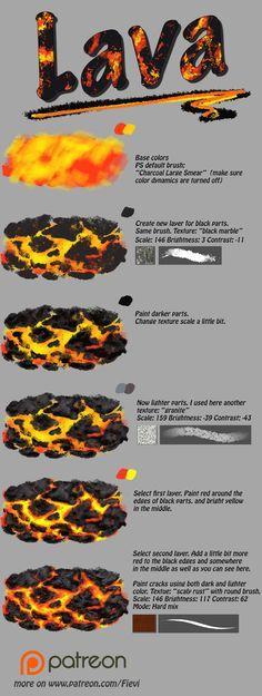 Lava tutorial by NThartyFievi.deviantart.com on @DeviantArt