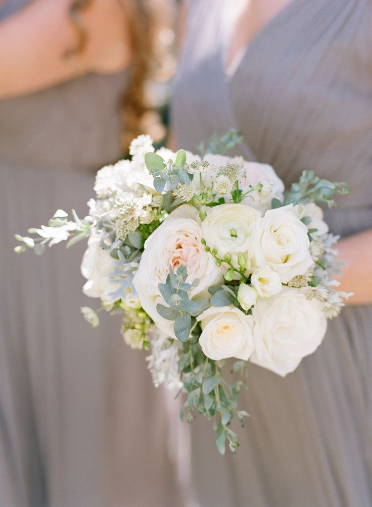 Bridesmaid Wedding Bouquet: See the wedding on SMP:http://www.stylemepretty.com/2014/02/18/classic-lowndes-grove-plantation-wedding/ Buffy Dekmar Photography