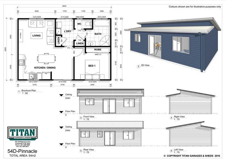 68 best house plan images on Pinterest Small houses, Floor plans - plan maison plain pied 80m2