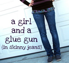 A girl and a glue gun: diy skinny jeans...