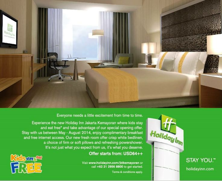 Everyone needs a little excitement from time to time! Take advantage of our special opening offer. Stay with us between April - August 2014. Pre book your stay here : www.holidayinn.com/jktkemayoran