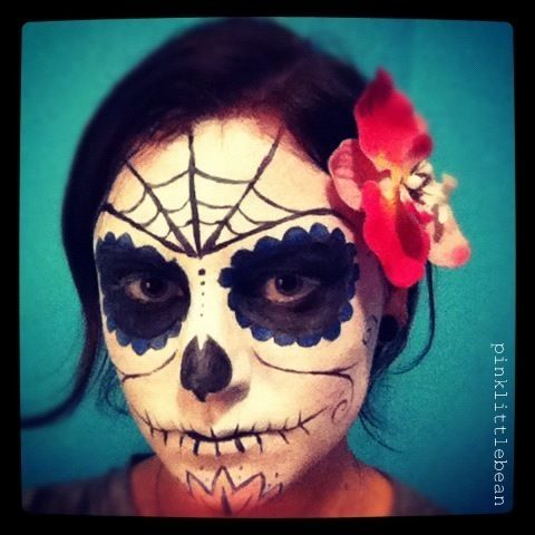 pinklittlebean halloween day of the dead skull face paint - Halloween Day Of The Dead Face Paint