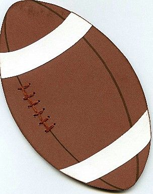 Free Football Pattern and Instructions for Scrapbooking: Completed Football for Scrapbooking