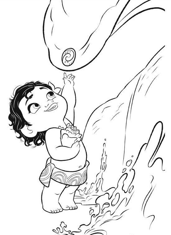 Ausmalbilder Vaiana Froh E1545260445432 Coloring Pages Moana