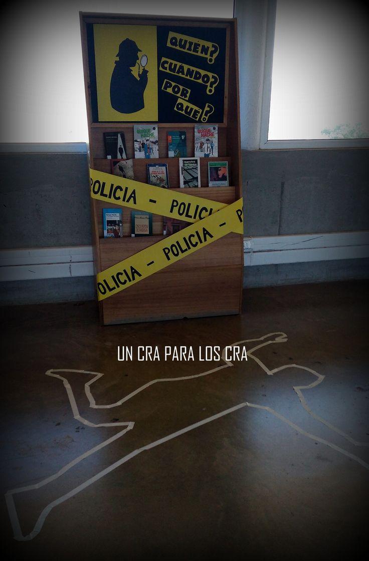ecoración biblioteca escolar decoración biblioteca infantil deco Library Un CRA para los CRA Bibliotekaro / Libros de Policías y misterios sin resolver