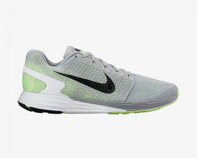 new product aca65 e7bff Youth Big Boys Nike Flyknit Lunarglide 7 ID Pure Platinum
