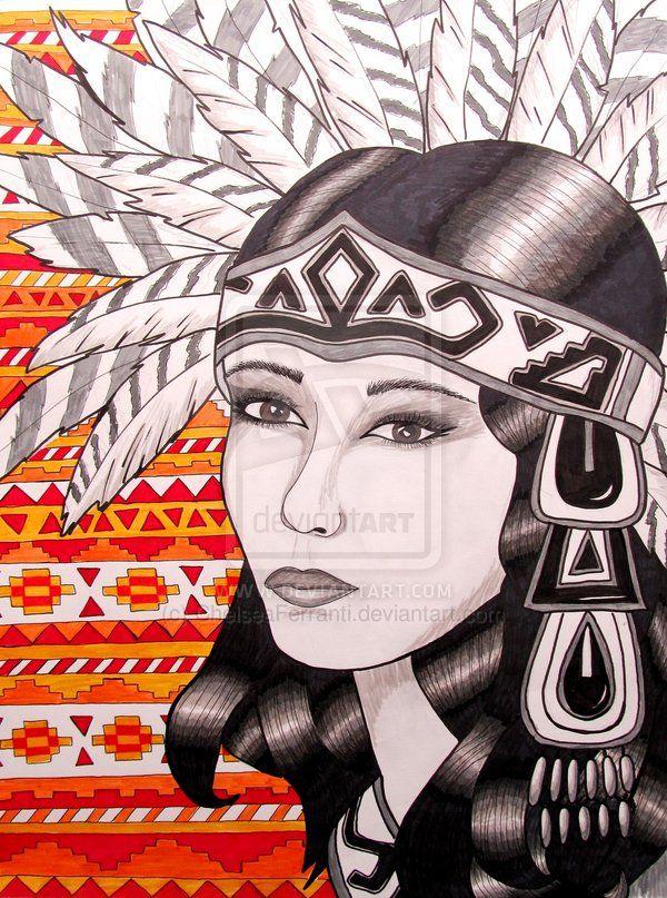 Aztec Woman Painting Tarot kartenlegen online gratis   www.onlinetarotkartenlegen.de/