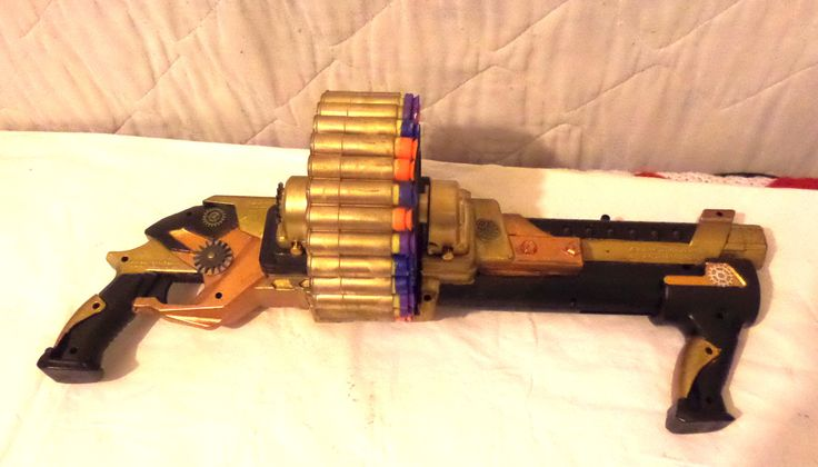Steampunk Nerf Machine Gun 30 shots Cosplay Costume Weapon Military Sci-fi - pinned by pin4etsy.com