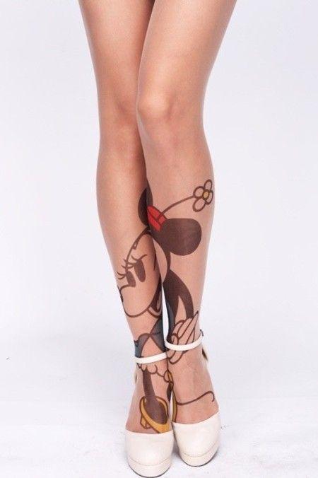 Meia Calça Tatuagem Minnie: