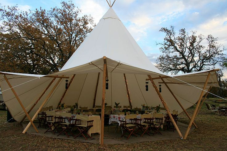 These Large Tipi Marquees Have The Flexibility Of Having