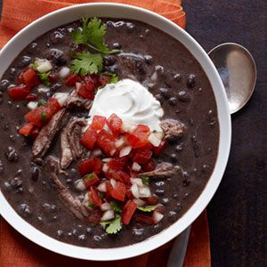 Slow Cooker Pork and Black Bean Soup