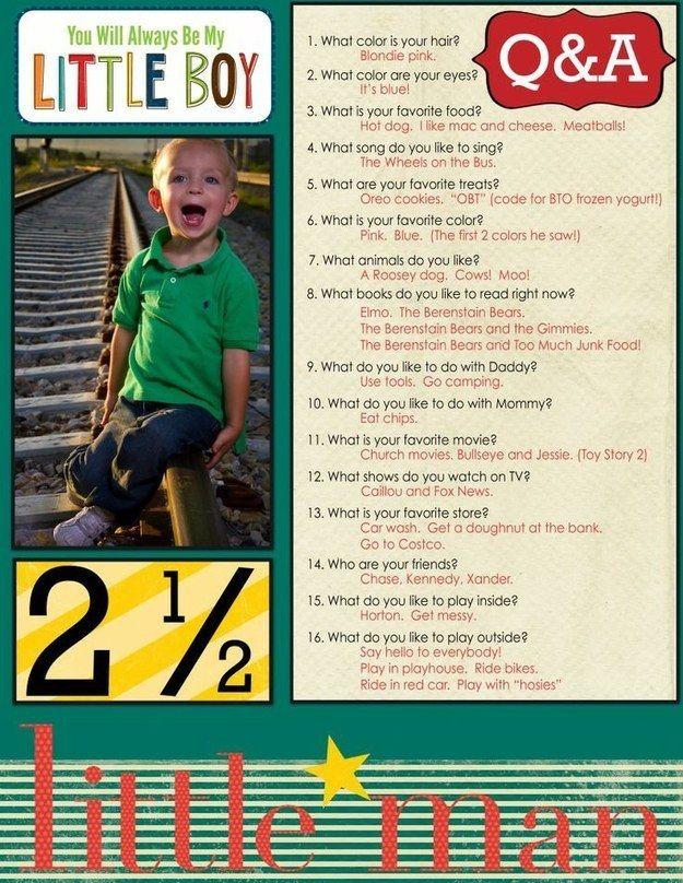 También puedes entrevistarlos al final del año: | 26 maneras de preservar los recuerdos de tus hijos para siempre