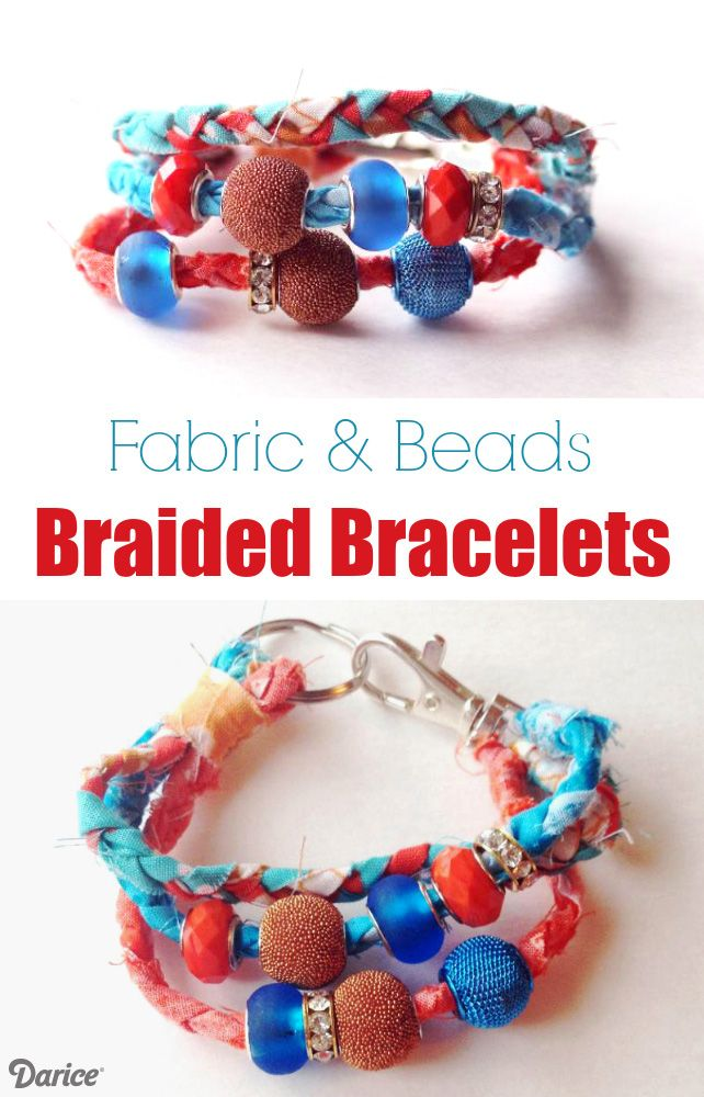 How to Make Braided Bracelets: Boho Fabric and Beads