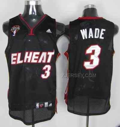 http://www.xjersey.com/heat-3-wade-black-latin-night-jerseys.html HEAT 3 WADE BLACK LATIN NIGHT JERSEYS Only $34.00 , Free Shipping!