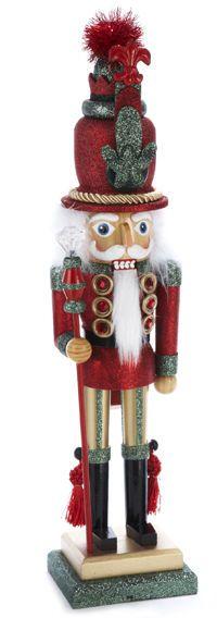 """Kurt S. Adler 19"""" Red Glittered Soldier Christmas Nutcracker, HA0009 Holiday"""