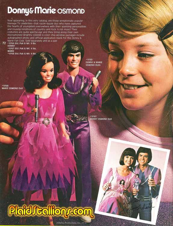 Donnie and Marie Osmand Barbie dolls.