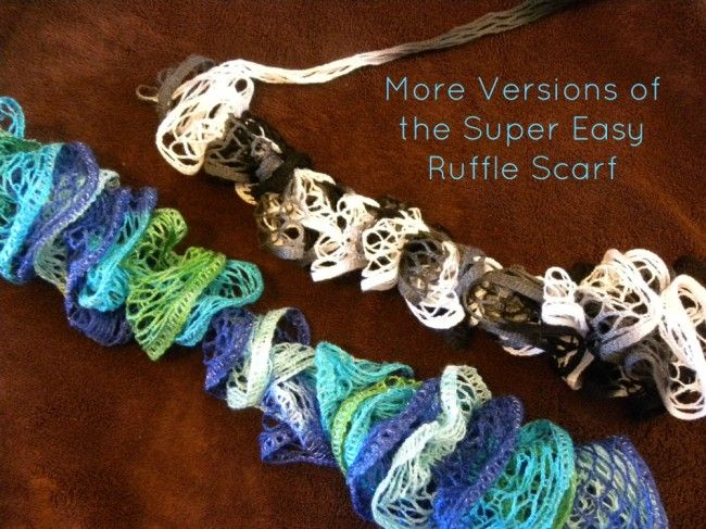 more versions of the super easy ruffle scarf