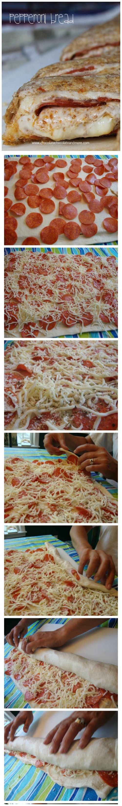 Pepperoni Bread-Easy to make, great for a party, a snack or anytime!