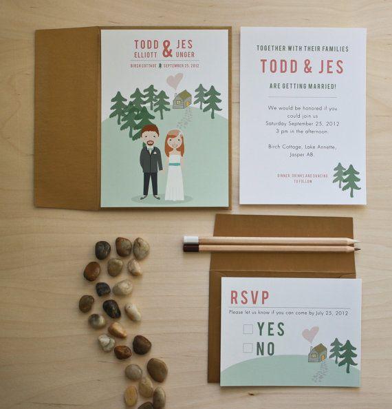 Vintage Wedding Invitation  Illustrated poster by jelliandink, $74.00