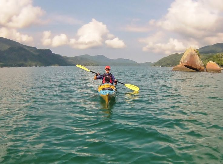 Kayaking along the Costa Verde, Brazil