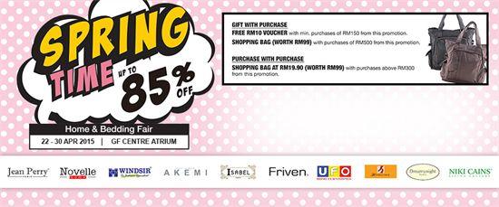 22-30 Apr 2015: KL Sogo Spring Time Home & Bedding Fair