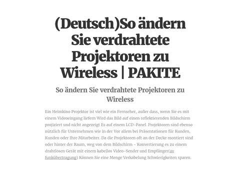 (Deutsch)So ändern Sie verdrahtete Projektoren zu Wireless | PAKITE