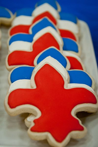 Fleur de lis Eagle Court of Honor Cookies