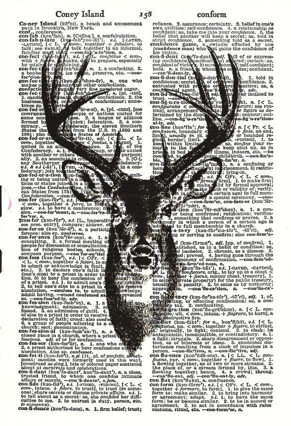 I like this idea for Christmas cards Maybe print deer on Christmas sheet music?