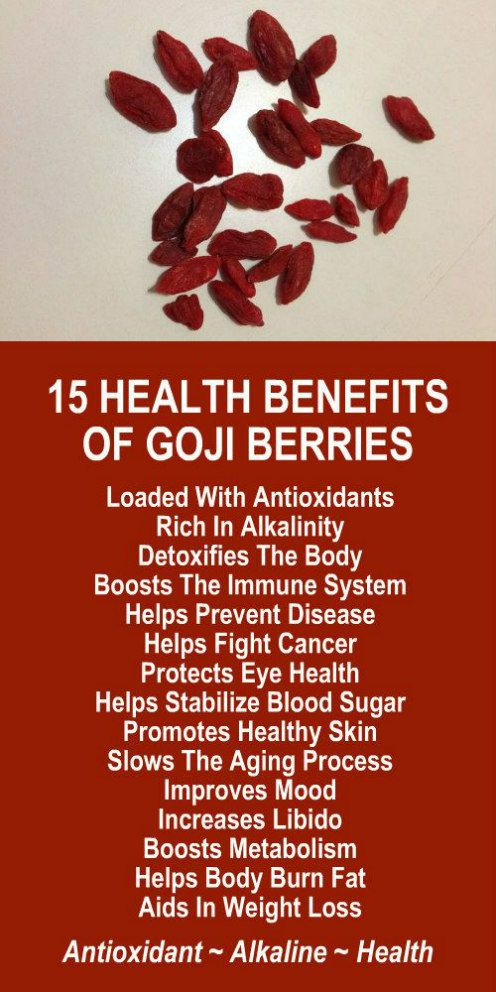 15 Health Benefits Of Goji Berries. Are you trying to lose weight? Our incredible alkaline rich, antioxidant loaded, weight loss products help you burn fat and lose weight more efficiently without changing your diet, increasing your exercise, or altering your lifestyle. LEARN MORE #GojiBerries #Antioxidants #Alkaline #FatBurning #WeightLoss #MetabolismBoosting #Benefits