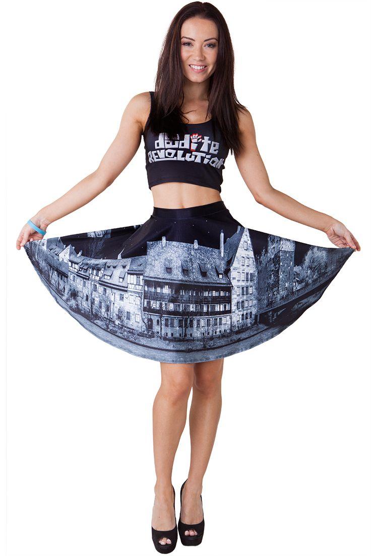 Ghost Town Skater Skirt - $50.00 AUD