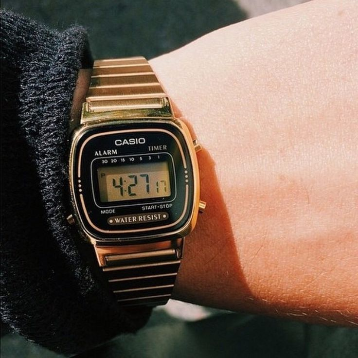 Gold Casio watch from American Apparel