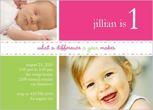 103 best Baby Girls 1st Birthday Invitations images on Pinterest