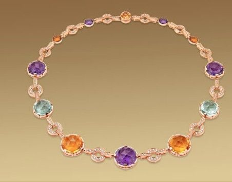 Le collane con pietre preziose più belle del mondo: 18Kt Pink, Pavé Diamonds, Coloured Gemstones, Citrine Quartz, Necklaces