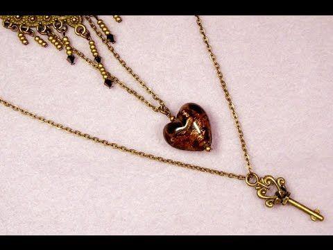 Smyckestillverkning Steampunk 3 halsband olika nivåer - Beading SteamPun...