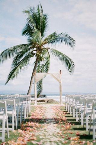 tropical beach wedding ceremony #wedding #ceremony #aisle #beach #inspiration #details