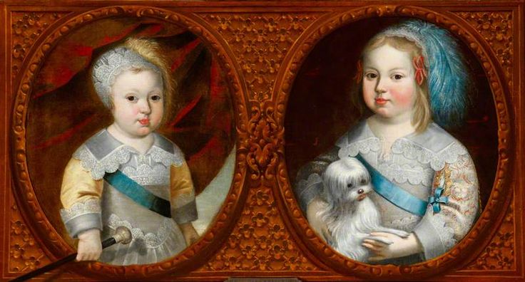 The Dauphin, later Louis XIV (1638–1715) King of France, and Philippe, duc D'Anjou, later Philippe (1640–1701) duc d'Orleans, as children, circa 1640 by Claude Deruet