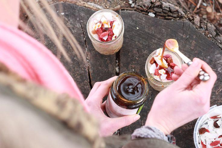 Coconut milk bircher muesli