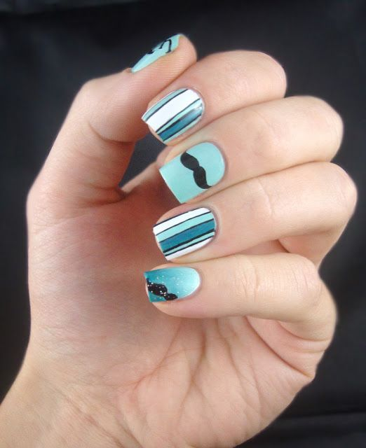 The 25 best mustache nails ideas on pinterest mustache nail art movember nails mustache nail art prinsesfo Choice Image