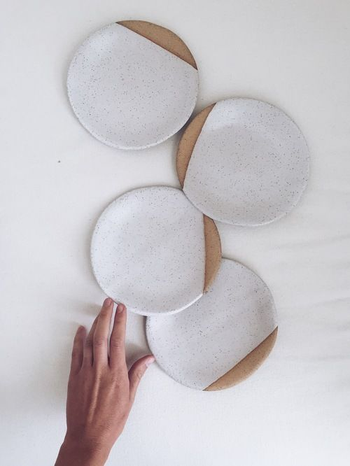 Speckled plates by Arrow + Sage