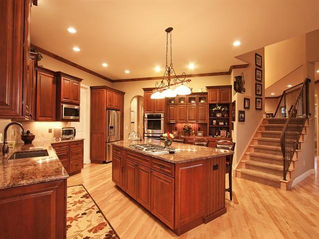 fabulous black kitchen cabinets floor | fabulous rich wood cabinets, maple floors, granite ...